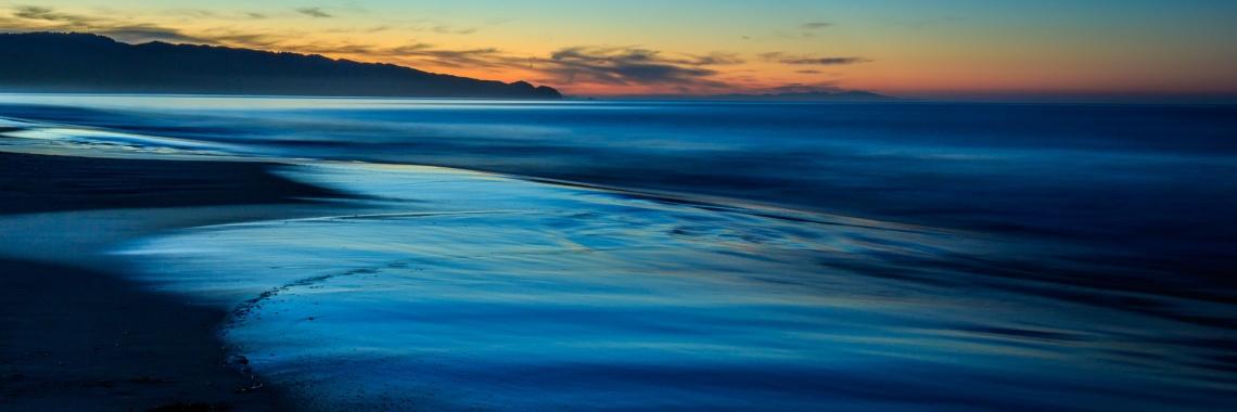 Dawn begins to light up Limantour Beach