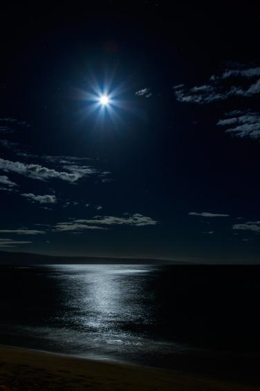 Moonset over Lanai, Napili Bay, Maui, HI