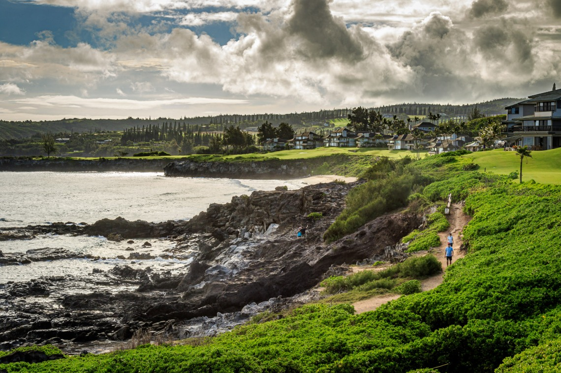 Hiking the Kapalua Trail in the morning
